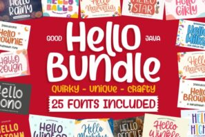 HELLO BUNDLE FONTS for all DESIGN CRAFTER
