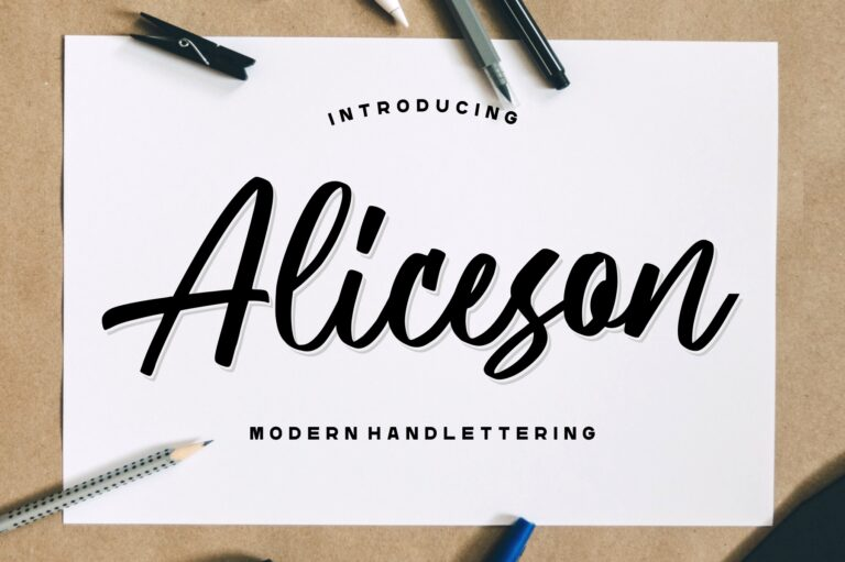 Preview image of Aliceson – Modern Handlettering