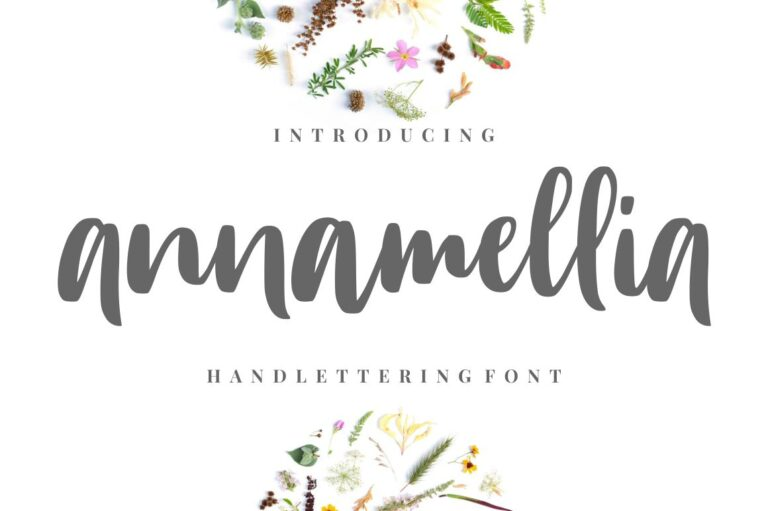 Preview image of Annamellia – Handlettering Fonts