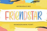 Last preview image of Friendstar – Handdrawn Font