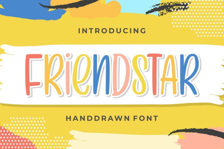 Friendstar - Handdrawn Font
