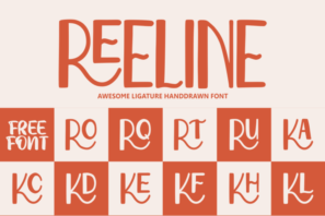 Reeline - Luxury Hand Drawn Font