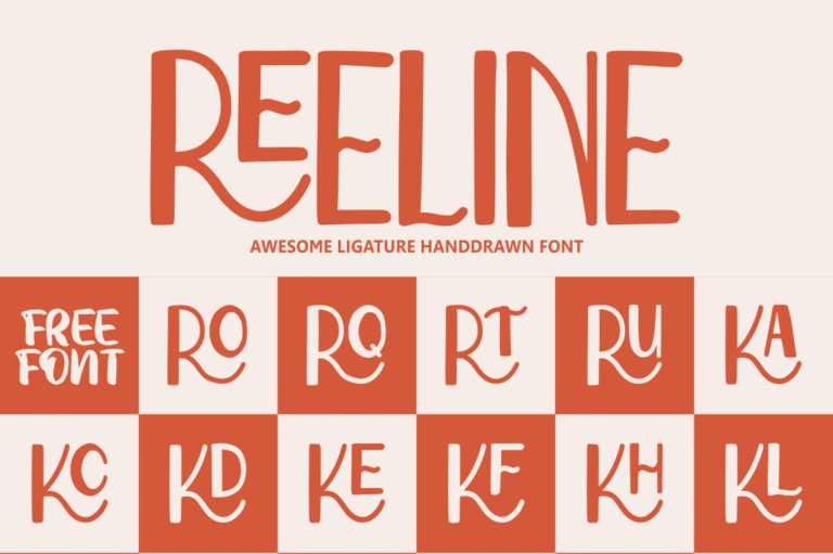 Preview image of Reeline – Luxury Hand Drawn Font
