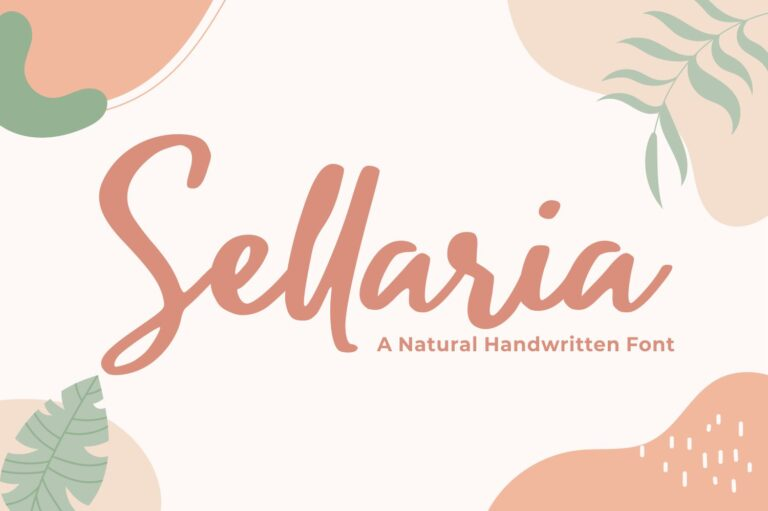 Preview image of Sellaria – Handwritten Font