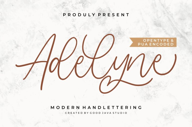 Preview image of Adelyne – Modern Handlettering