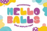 Last preview image of Hello Balls – Bold Font