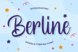 Last preview image of Berline – Handlettering Font