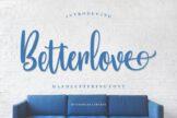 Last preview image of Betterlove – Handlettering Font
