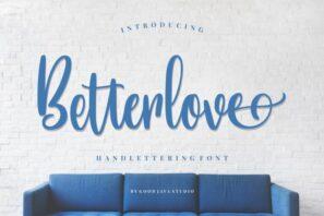 Betterlove - Handlettering Font