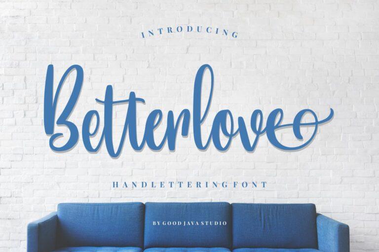 Preview image of Betterlove – Handlettering Font