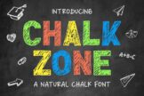 Last preview image of Chalk Zone – A Natural Chalk Font