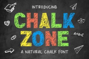 Chalk Zone - A Natural Chalk Font