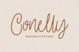 Last preview image of Conelly – Handwritten Font