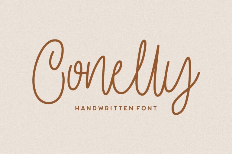 Preview image of Conelly – Handwritten Font