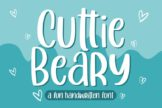 Last preview image of Cuttie Beary – Fun Handwritten Font