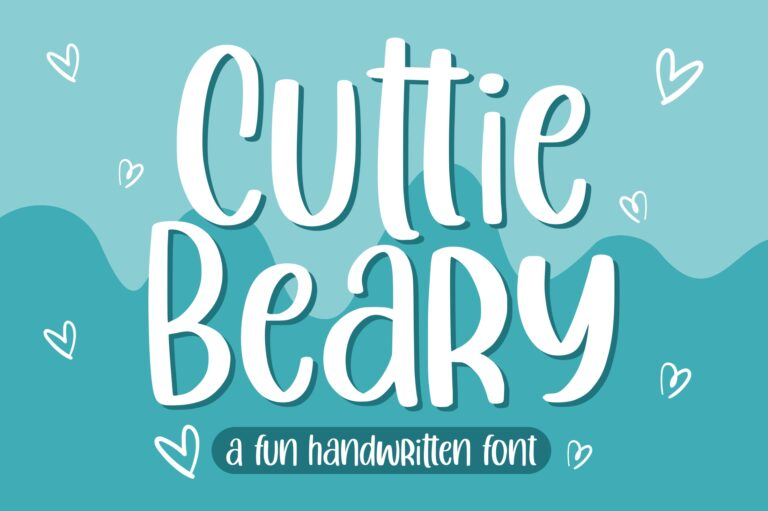 Preview image of Cuttie Beary – Fun Handwritten Font