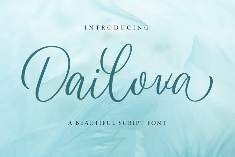 Preview image of Dailova – Beautifull Script