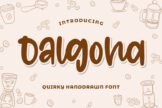 Last preview image of Dalgona – Quirky Font