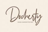 Last preview image of Docherty – Casual Handwritten Font