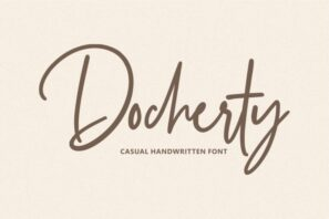 Docherty - Casual Handwritten Font
