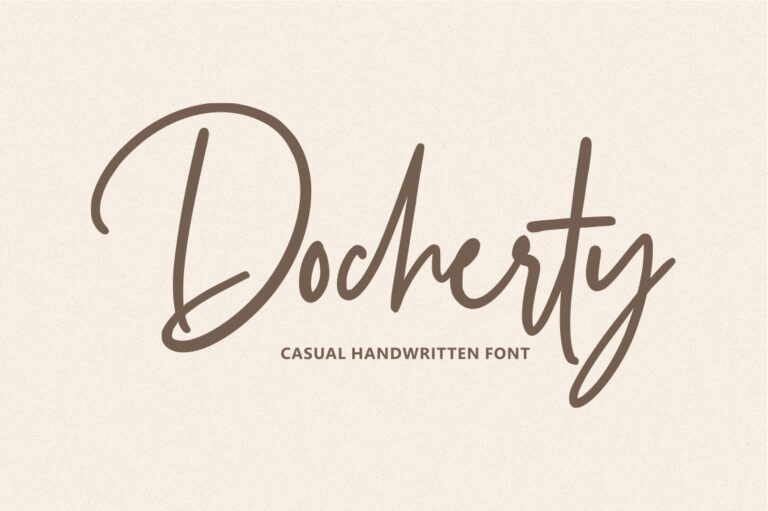 Preview image of Docherty – Casual Handwritten Font