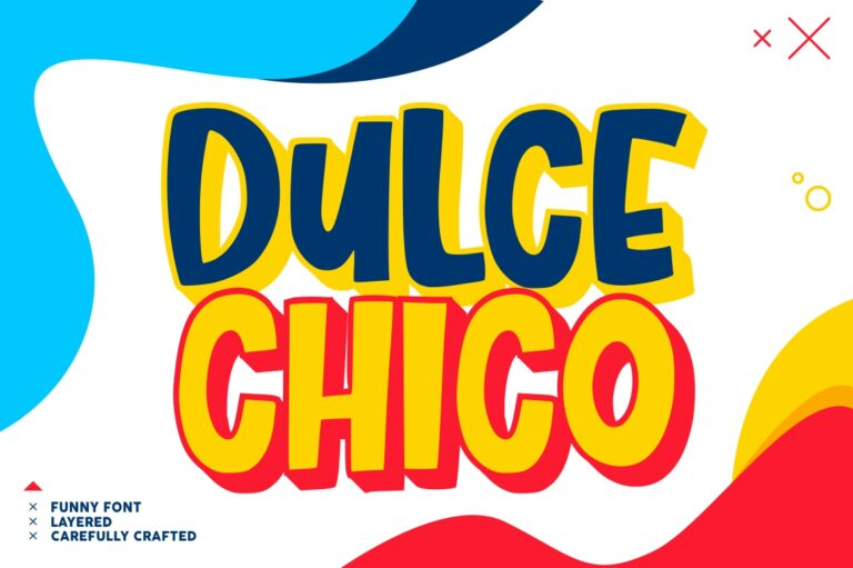 Preview image of Dulce Chico – Layered Font