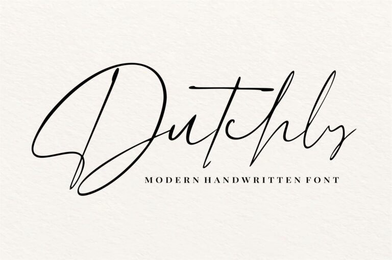 Preview image of Dutchly – Modern Handwritten