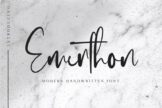 Last preview image of Emerthon – Modern Handwritten Font