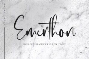 Emerthon - Modern Handwritten Font