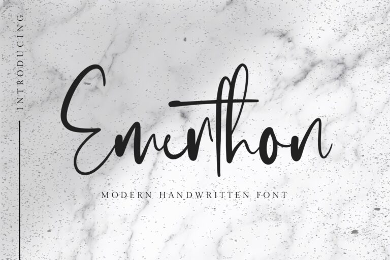 Preview image of Emerthon – Modern Handwritten Font