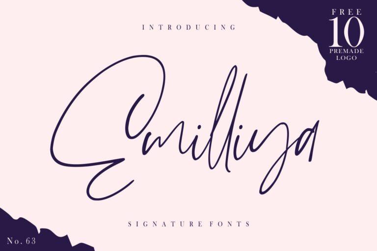 Emilliya - Luxury Signature Font