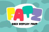 Last preview image of Fatz – Bold Font