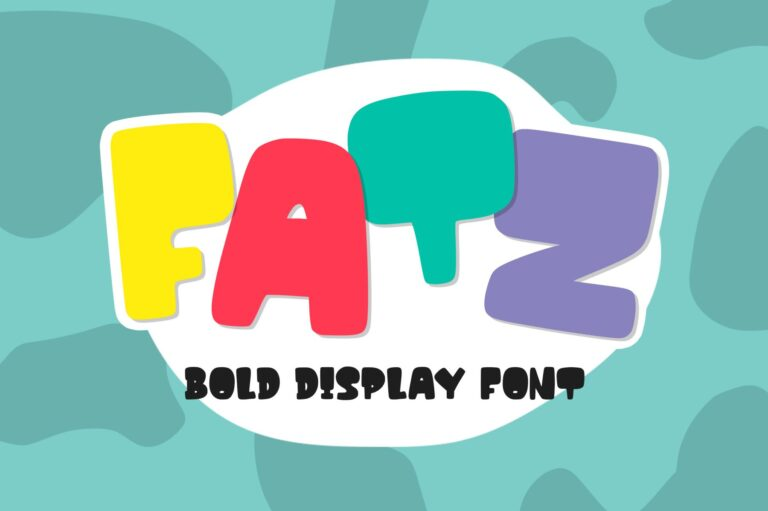 Fatz - Bold Font
