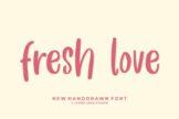 Last preview image of Fresh Love – Handwritten Font