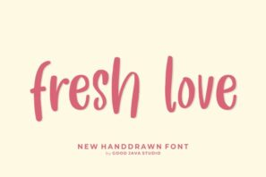 Fresh Love - Handwritten Font