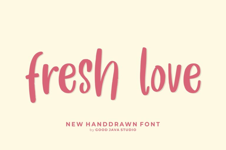 Preview image of Fresh Love – Handwritten Font