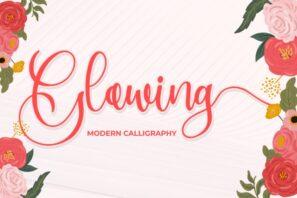 Glowing - Modern Calligraphy
