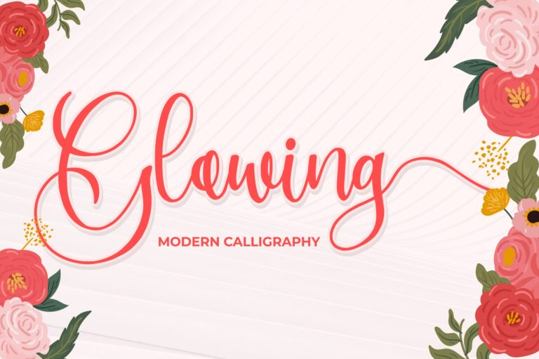 Preview image of Glowing – Modern Calligraphy