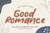 Last preview image of Good Romance – Natural Handwritten