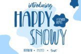 Last preview image of Happy Snowy – Font Trio