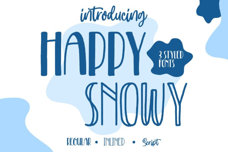 Preview image of Happy Snowy – Font Trio