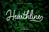 Last preview image of Hearthline – Monoscript Font