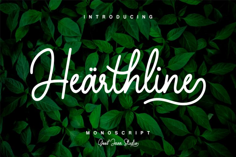 Preview image of Hearthline – Monoscript Font