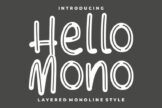 Last preview image of Hello Mono – with Layered Inline