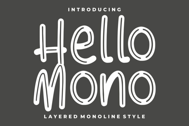 Preview image of Hello Mono – with Layered Inline