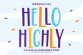 Last preview image of Hello Highly – Playfull Condensed