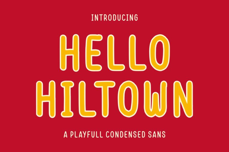 Preview image of Hello Hiltown – Playfull Condensed