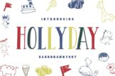 Last preview image of Hollyday – Handdrawn Font