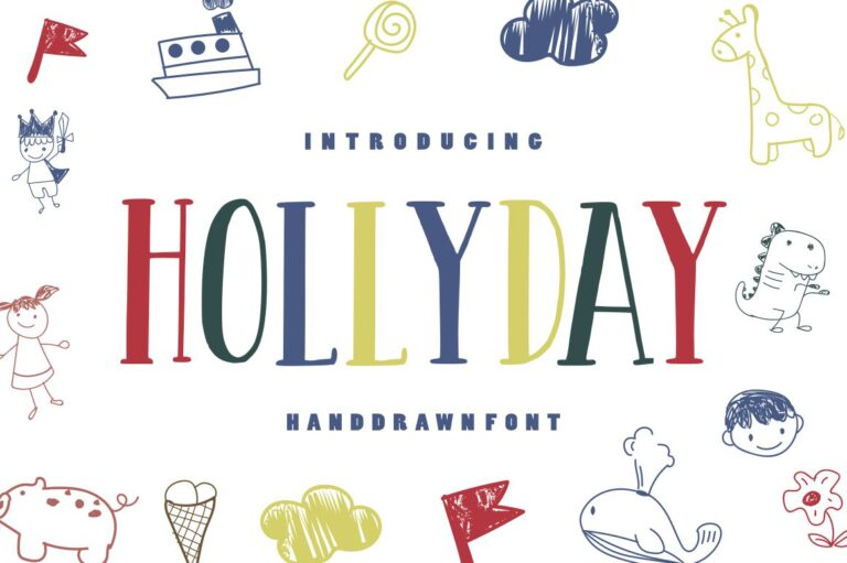 Preview image of Hollyday – Handdrawn Font