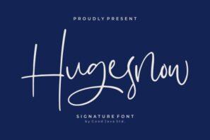 Hugesnow - Signature Font